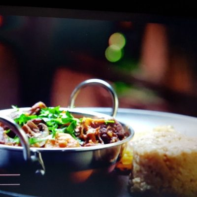 Award winning Goat potjie/stew with mushrooms